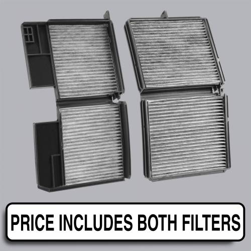 FilterHeads - AQ1061 Cabin Air Filter - Carbon Media, Absorbs Odors