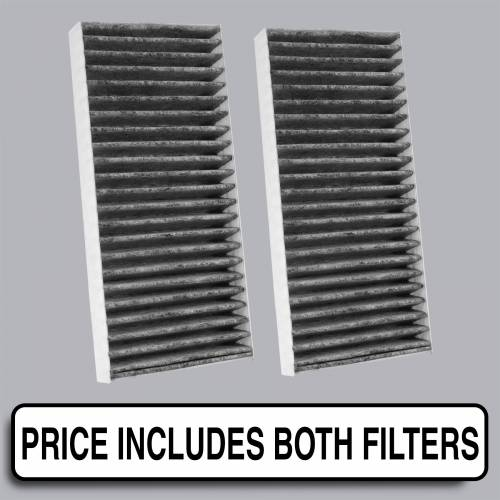 FilterHeads - AQ1095C Cabin Air Filter - Carbon Media, Absorbs Odors