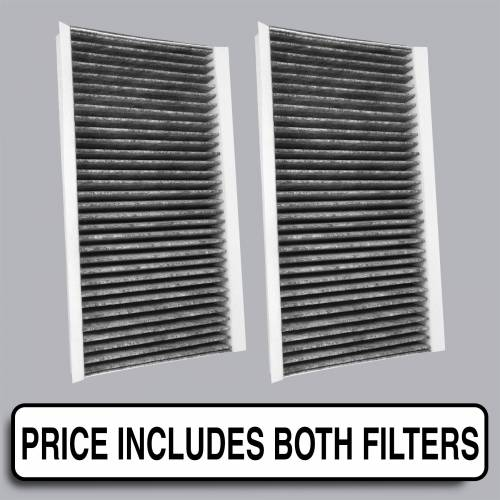 FilterHeads - AQ1134 Cabin Air Filter - Carbon Media, Absorbs Odors