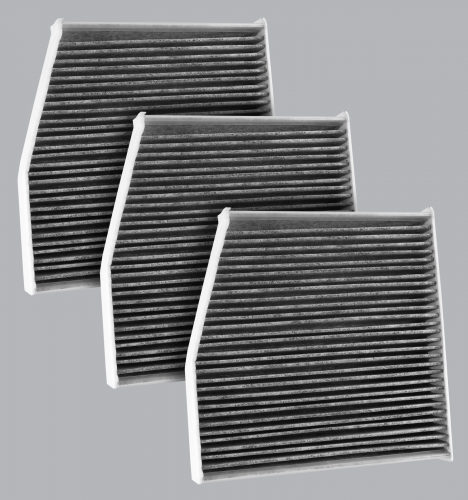 FilterHeads - AQ1245C Cabin Air Filter - Carbon Media, Absorbs Odors 3PK - Buy 2, Get 1 Free!
