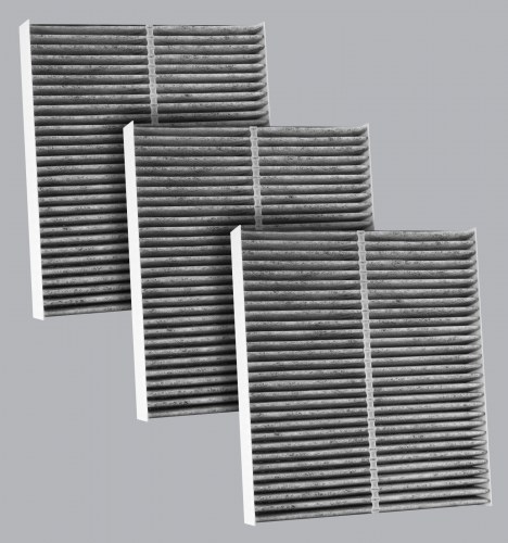 FilterHeads - AQ1216C Cabin Air Filter - Carbon Media, Absorbs Odors 3PK - Buy 2, Get 1 Free!