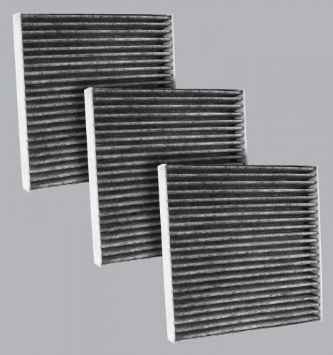 FilterHeads - AQ1235C Cabin Air Filter - Carbon Media, Absorbs Odors 3PK - Buy 2, Get 1 Free!