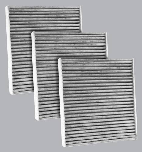 FilterHeads - AQ1242C Cabin Air Filter - Carbon Media, Absorbs Odors 3PK - Buy 2, Get 1 Free!