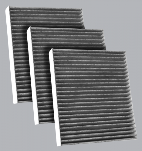 FilterHeads - AQ1164C Cabin Air Filter - Carbon Media, Absorbs Odors 3PK - Buy 2, Get 1 Free!