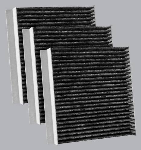 FilterHeads - AQ1263C Cabin Air Filter - Carbon Media, Absorbs Odors 3PK - Buy 2, Get 1 Free!