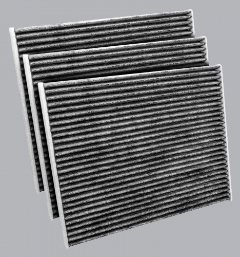 FilterHeads - AQ1227C Cabin Air Filter - Carbon Media, Absorbs Odors 3PK - Buy 2, Get 1 Free!
