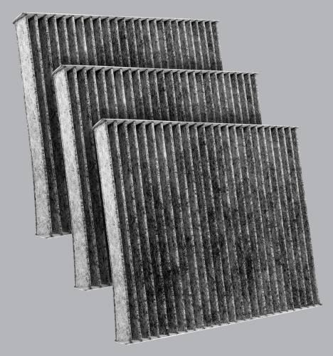 FilterHeads - AQ1220C Cabin Air Filter - Carbon Media, Absorbs Odors 3PK - Buy 2, Get 1 Free!