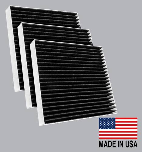 FilterHeads - AQ1279C Cabin Air Filter - Carbon Media, Absorbs Odors 3PK - Buy 2, Get 1 Free!