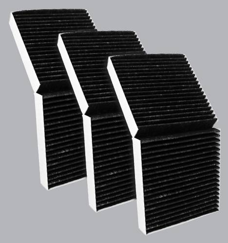 FilterHeads - AQ1203C Cabin Air Filter - Carbon Media, Absorbs Odors 3PK - Buy 2, Get 1 Free!