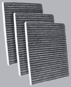 FilterHeads - AQ1008C Cabin Air Filter - Carbon Media, Absorbs Odors 3PK - Buy 2, Get 1 Free!