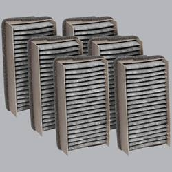 FilterHeads - AQ1010C Cabin Air Filter - Carbon Media, Absorbs Odors 3PK - Buy 2, Get 1 Free!
