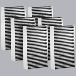 FilterHeads - AQ1040C Cabin Air Filter - Carbon Media, Absorbs Odors 3PK