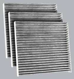 FilterHeads - AQ1058C Cabin Air Filter - Carbon Media, Absorbs Odors 3PK - Buy 2, Get 1 Free!