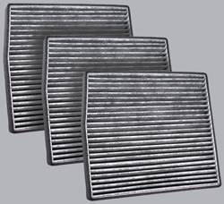 FilterHeads - AQ1067C Cabin Air Filter - Carbon Media, Absorbs Odors 3PK - Buy 2, Get 1 Free!