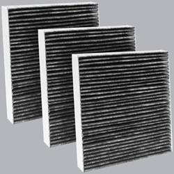 FilterHeads - AQ1091C Cabin Air Filter - Carbon Media, Absorbs Odors 3PK - Buy 2, Get 1 Free!