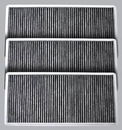 FilterHeads - AQ1123 Cabin Air Filter - Carbon Media, Absorbs Odors 3PK - Buy 2, Get 1 Free! - Image 1