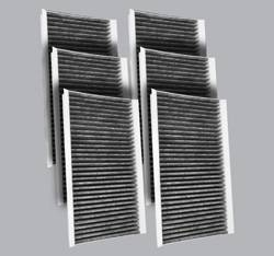 FilterHeads - AQ1134 Cabin Air Filter - Carbon Media, Absorbs Odors 3PK - Buy 2, Get 1 Free! - Image 1