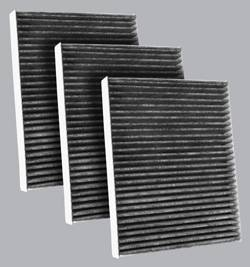 FilterHeads - AQ1136C Cabin Air Filter - Carbon Media, Absorbs Odors 3PK - Buy 2, Get 1 Free! - Image 1