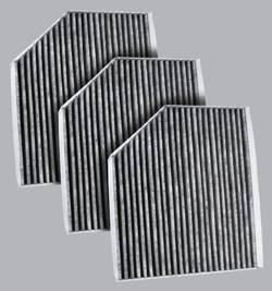 FilterHeads - AQ1157C Cabin Air Filter - Carbon Media, Absorbs Odors 3PK - Buy 2, Get 1 Free!