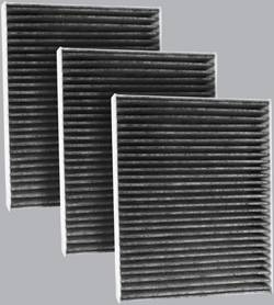 FilterHeads - AQ1213C Cabin Air Filter - Carbon Media, Absorbs Odors 3PK - Buy 2, Get 1 Free!