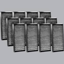 FilterHeads - AQ1218C Cabin Air Filter - Carbon Media, Absorbs Odors 3PK - Buy 2, Get 1 Free! - Image 1