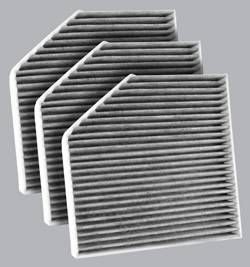 FilterHeads - AQ1219C Cabin Air Filter - Carbon Media, Absorbs Odors 3PK