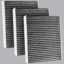 FilterHeads - AQ1238C Cabin Air Filter - Carbon Media, Absorbs Odors 3PK - Buy 2, Get 1 Free! - Image 1