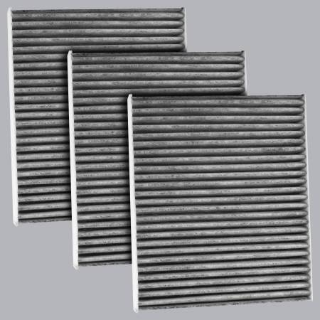 FilterHeads - AQ1247C Cabin Air Filter - Carbon Media, Absorbs Odors 3PK - Buy 2, Get 1 Free! - Image 1