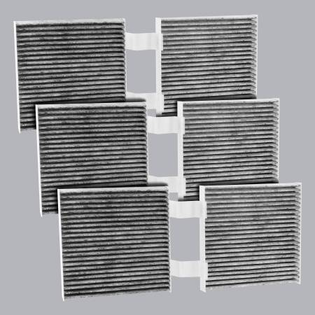 FilterHeads - AQ1234C Cabin Air Filter - Carbon Media, Absorbs Odors 3PK - Buy 2, Get 1 Free! - Image 1
