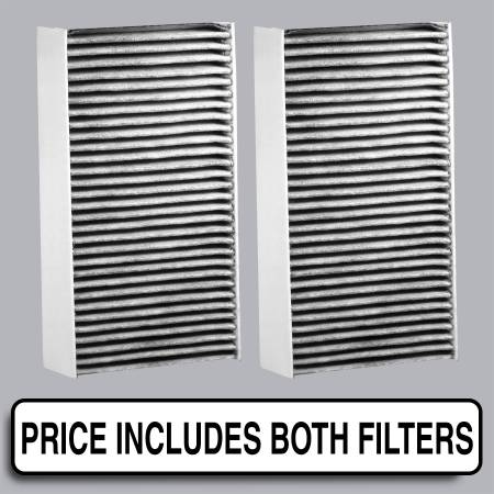 FilterHeads - AQ1040C Cabin Air Filter - Carbon Media, Absorbs Odors