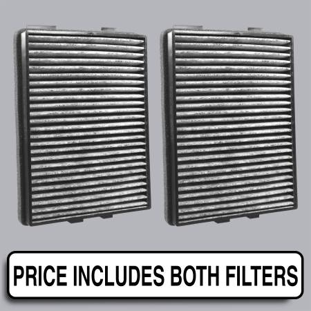 BMW 530i - BMW 530i 2002 - FilterHeads - AQ1055C Cabin Air Filter - Carbon Media, Absorbs Odors