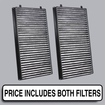 BMW 745i - BMW 745i 2005 - FilterHeads - AQ1066C Cabin Air Filter - Carbon Media, Absorbs Odors