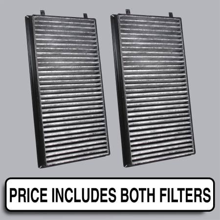 BMW 745Li - BMW 745Li 2002 - FilterHeads - AQ1066C Cabin Air Filter - Carbon Media, Absorbs Odors