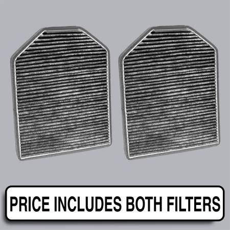 FilterHeads - AQ1074C Cabin Air Filter - Carbon Media, Absorbs Odors
