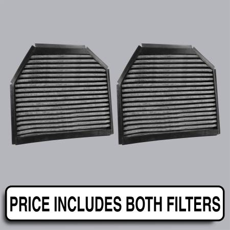 Mercedes-Benz SL550 - Mercedes-Benz SL550 2009 - FilterHeads - AQ1078C Cabin Air Filter - Carbon Media, Absorbs Odors