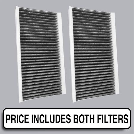 BMW 550i - BMW 550i 2009 - FilterHeads - AQ1134 Cabin Air Filter - Carbon Media, Absorbs Odors