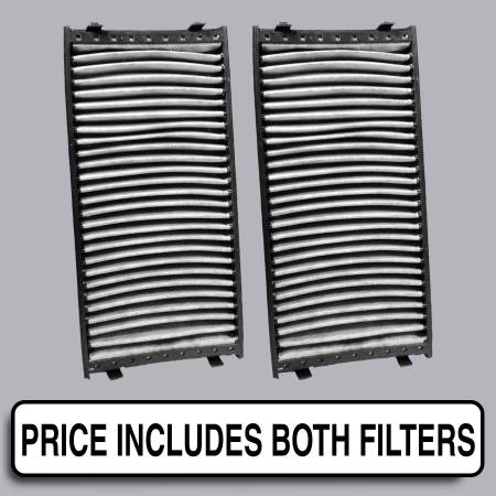 BMW X6 - BMW X6 2009 - FilterHeads - AQ1147C Cabin Air Filter - Carbon Media, Absorbs Odors
