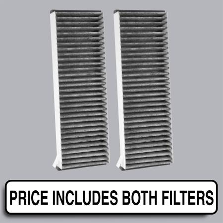 FilterHeads - AQ1177C Cabin Air Filter - Carbon Media, Absorbs Odors