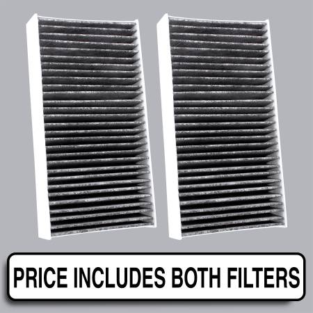 FilterHeads - AQ1180C Cabin Air Filter - Carbon Media, Absorbs Odors - Image 1