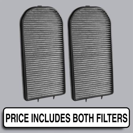 BMW 740iL - BMW 740iL 2000 - FilterHeads - AQ1183C Cabin Air Filter - Carbon Media, Absorbs Odors