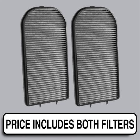 BMW 740i - BMW 740i 1995 - FilterHeads - AQ1183C Cabin Air Filter - Carbon Media, Absorbs Odors