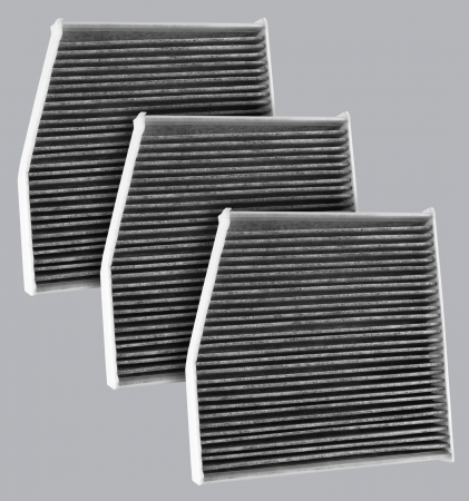 FilterHeads - AQ1245C Cabin Air Filter - Carbon Media, Absorbs Odors 3PK - Buy 2, Get 1 Free! - Image 1