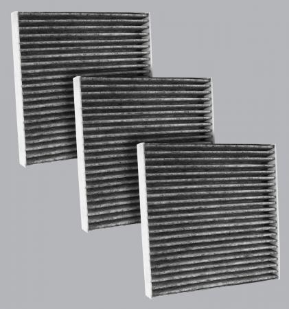 FilterHeads - AQ1235C Cabin Air Filter - Carbon Media, Absorbs Odors 3PK - Buy 2, Get 1 Free! - Image 1