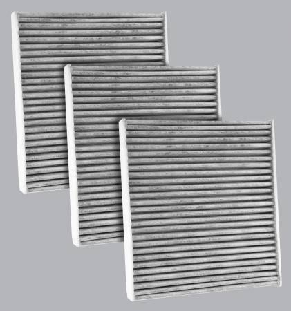 FilterHeads - AQ1242C Cabin Air Filter - Carbon Media, Absorbs Odors 3PK - Buy 2, Get 1 Free! - Image 1