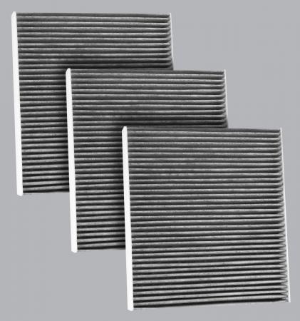 FilterHeads - AQ1248C Cabin Air Filter - Carbon Media, Absorbs Odors 3PK - Buy 2, Get 1 Free! - Image 1
