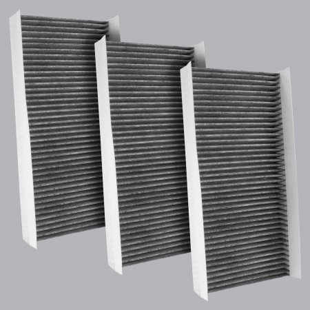 FilterHeads - AQ1237C Cabin Air Filter - Carbon Media, Absorbs Odors 3PK - Buy 2, Get 1 Free!