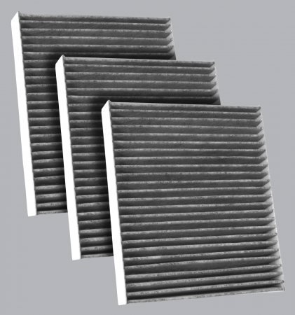FilterHeads - AQ1164C Cabin Air Filter - Carbon Media, Absorbs Odors 3PK - Buy 2, Get 1 Free! - Image 1
