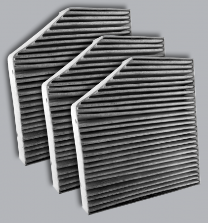 FilterHeads - AQ1275C Cabin Air Filter - Carbon Media, Absorbs Odors 3PK - Buy 2, Get 1 Free!