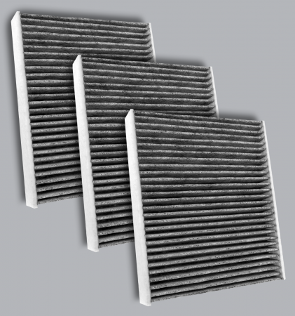 FilterHeads - AQ1262C-B Cabin Air Filter - Carbon Media, Absorbs Odors 3PK - Buy 2, Get 1 Free!