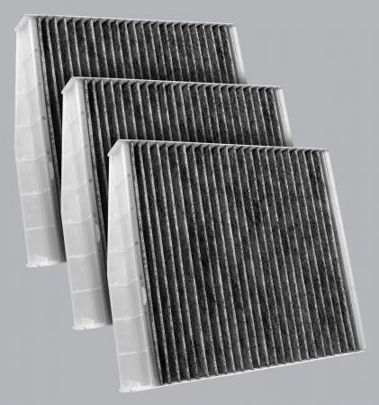FilterHeads - AQ1281C-B Cabin Air Filter - Carbon Media, Absorbs Odors 3PK - Buy 2, Get 1 Free!
